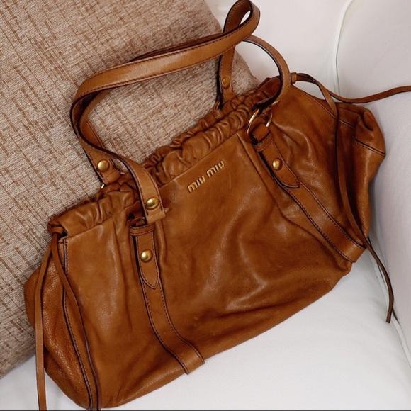 Miu Miu Handbags - MIU MIU Brown Satchel